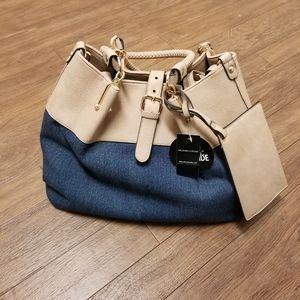 Black Rivet Shoulder Bag